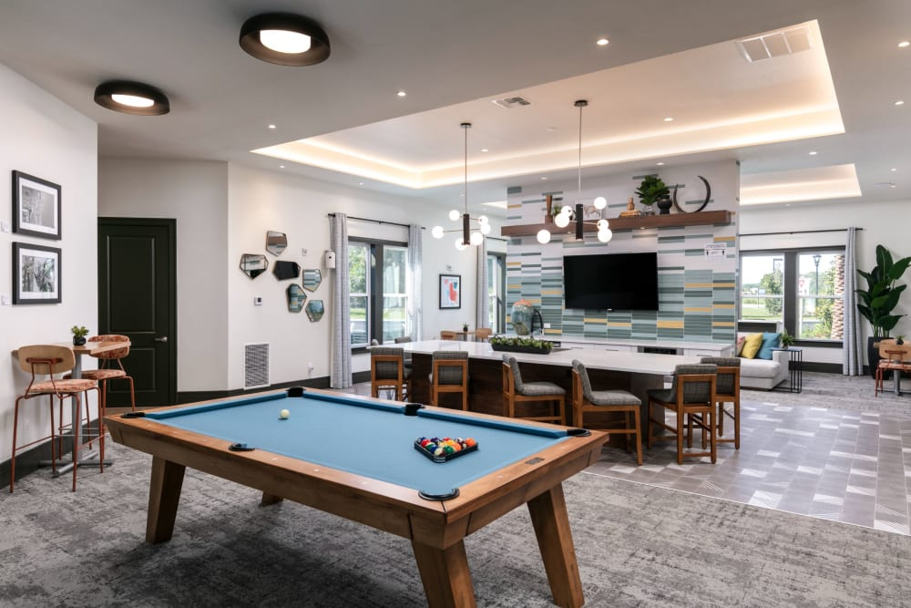 Game room at Integra Crossings in Sanford, Florida