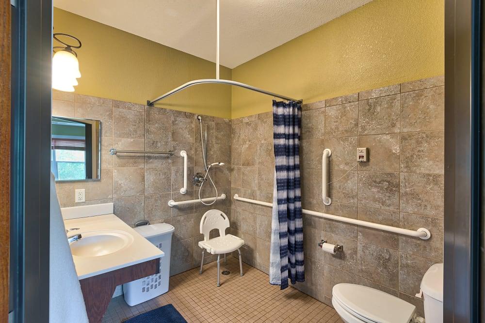 Bathroom area of Water's Edge in Mankato, Minnesota