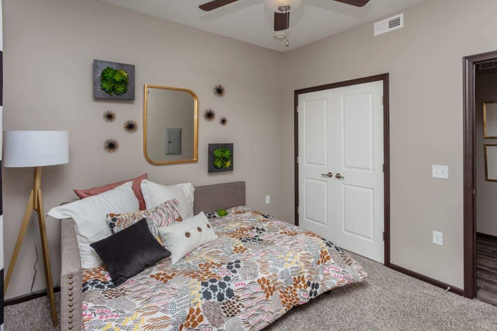 Bright bedroom at Autumn Ridge in Waukee, Iowa