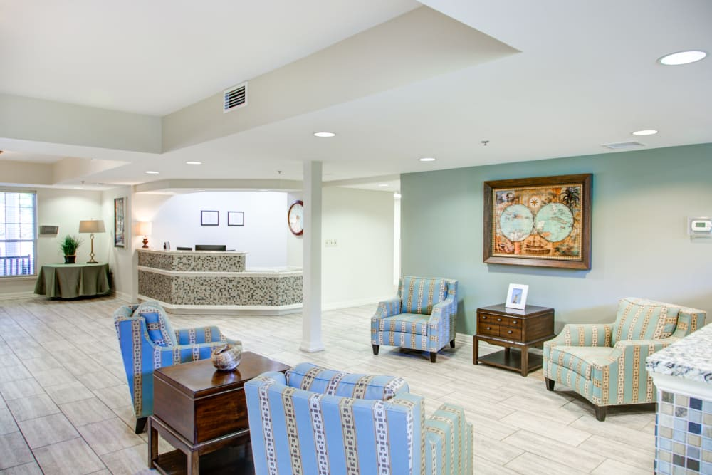 Clubhouse community space at Truewood by Merrill, Riverchase in Hoover, Alabama.
