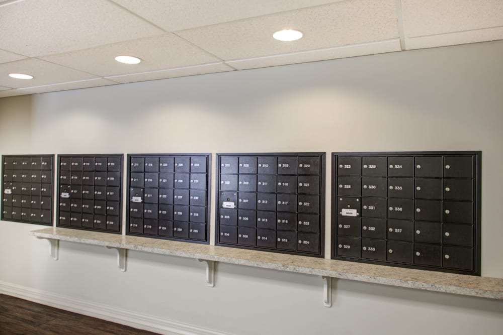 Mailboxes at Truewood by Merrill, Riverchase in Hoover, Alabama.