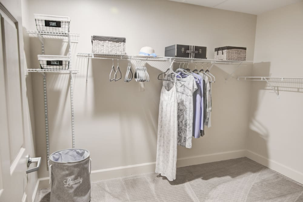 Spacious walk-in closet at Truewood by Merrill, Riverchase in Hoover, Alabama.