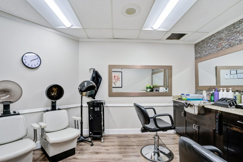 Salon for residents at Truewood by Merrill, Port Charlotte in Port Charlotte, Florida.