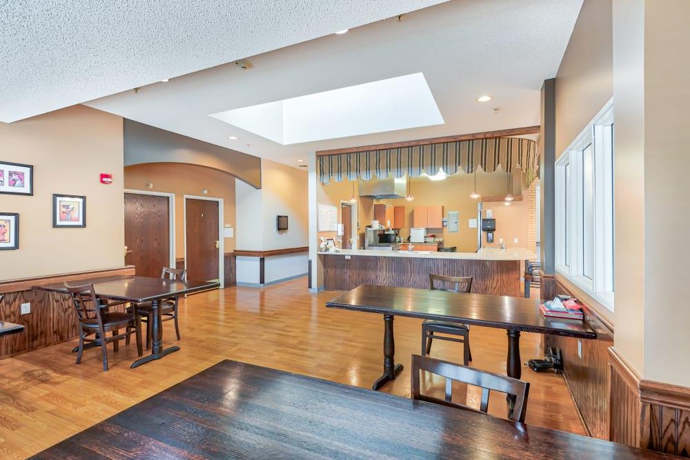 Kitchenette with dining area at Autumn Grace in Mankato, Minnesota