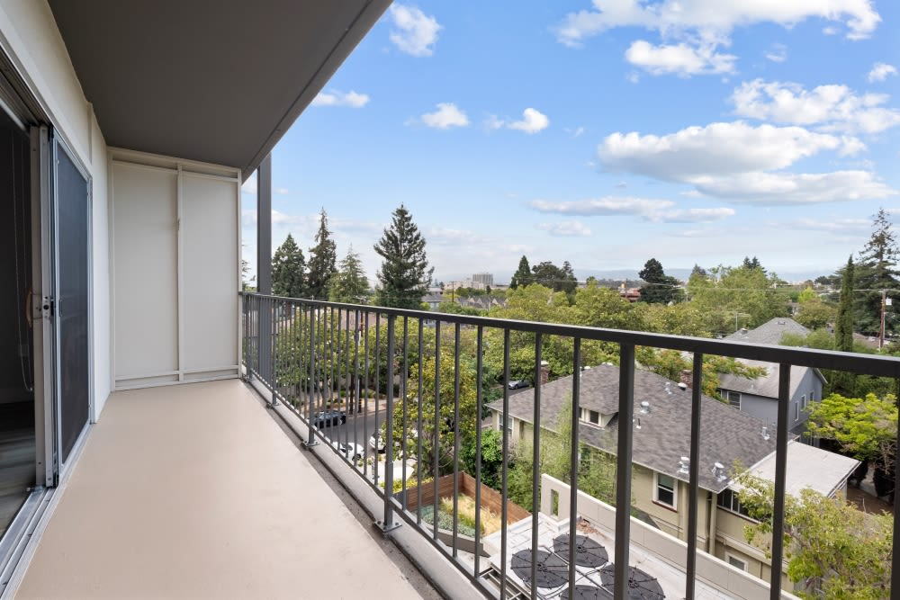 Balcony at Mia in Palo Alto, California