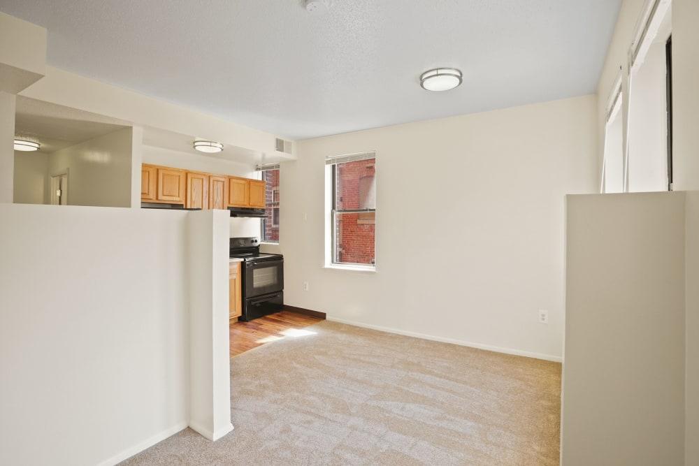 Studio floorplan at R Street