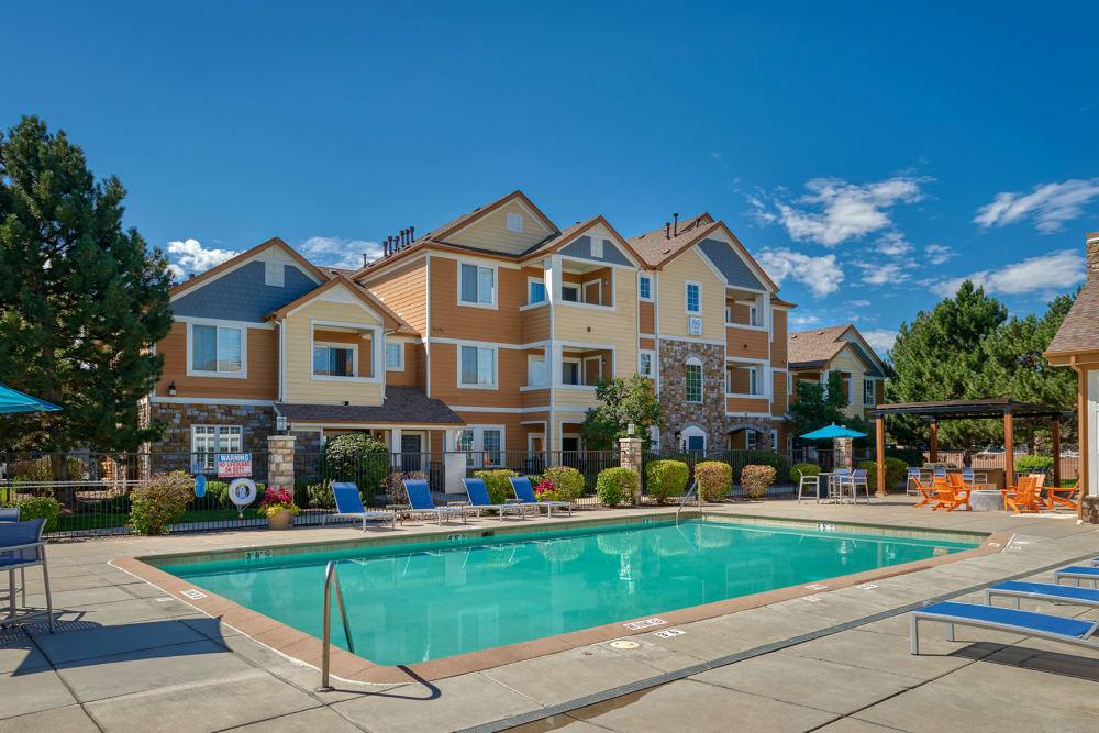 Sparkling Pool at Crestone Apartments in Aurora, Colorado
