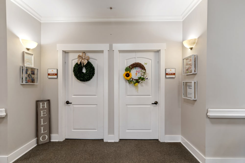 Resident entryways at Truewood by Merrill, Powell in Powell, TN
