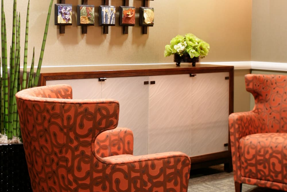 Comfortable seating at Yale Station Apartments in Denver, Colorado