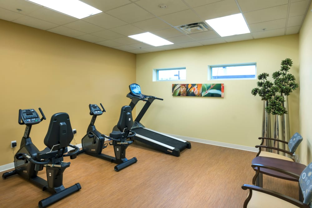 Fitness center at University Station Apartments in Denver, Colorado
