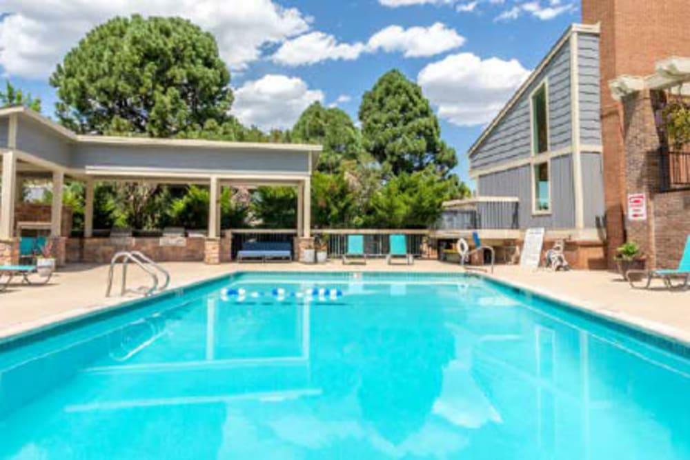 Dazzling blue pool at The Pines at Pinehurst in Denver, Colorado