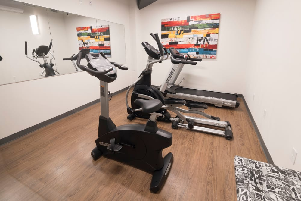 Fitness center at Sienna on Sloans Lake in Denver, Colorado