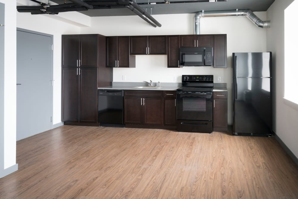 Interior of model apartment at Sienna on Sloans Lake in Denver, Colorado