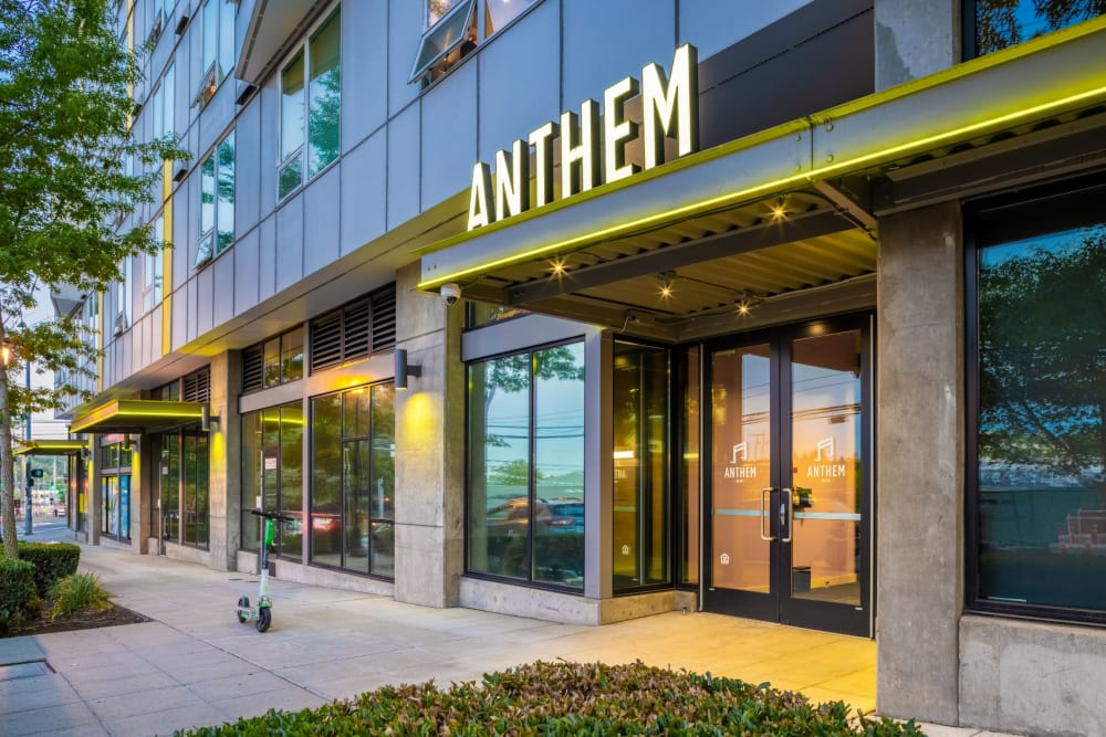 Main entrance at Anthem on 12th in Seattle, Washington
