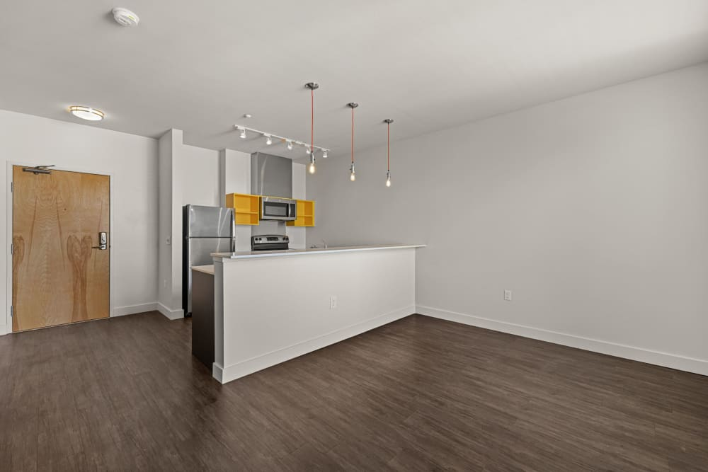 Spacious living area at Anthem on 12th in Seattle, Washington