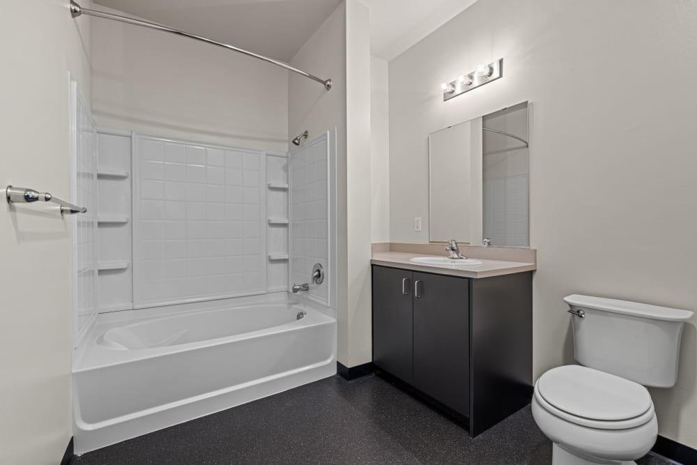 Bright bathroom at Anthem on 12th in Seattle, Washington