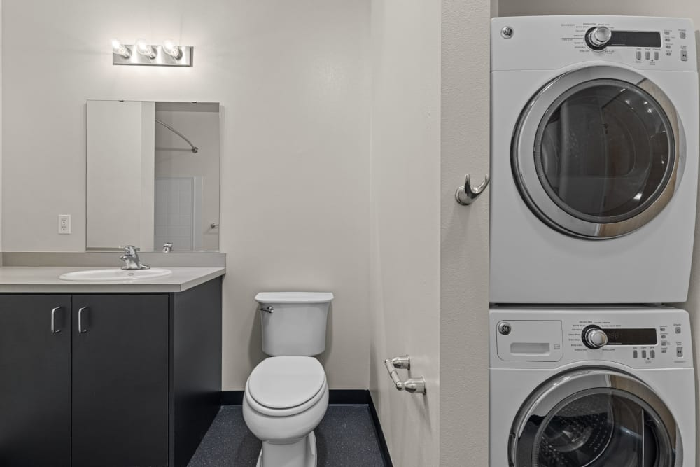Washer and dryer at Anthem on 12th in Seattle, Washington