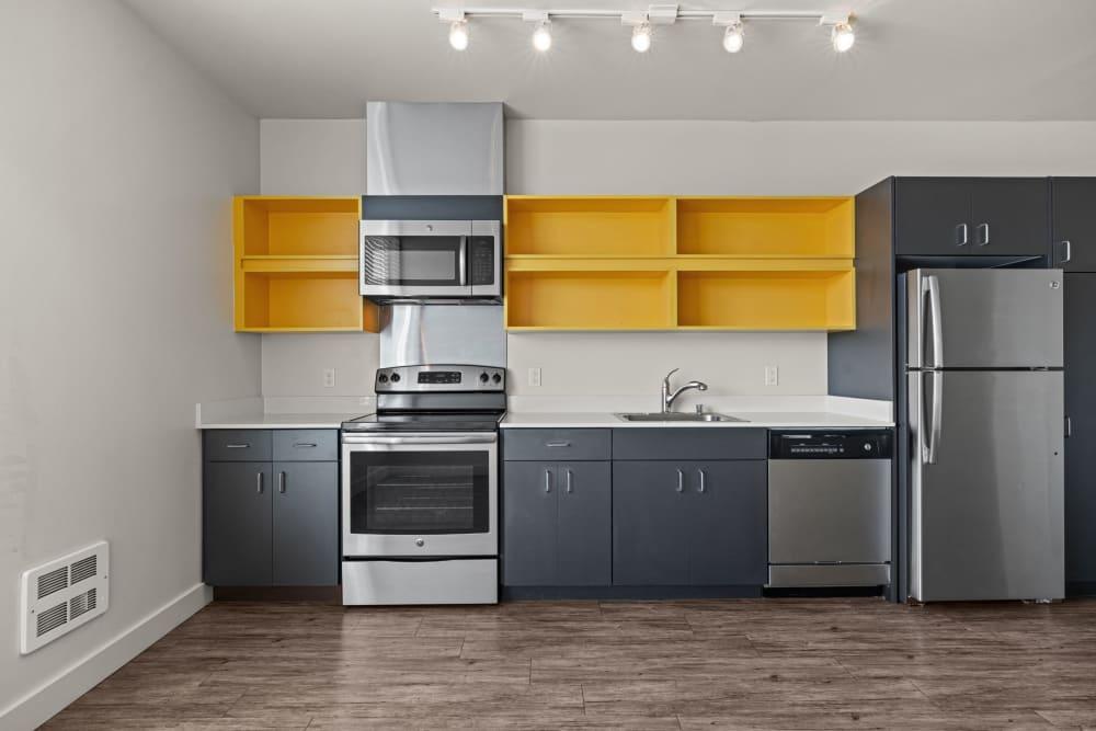 Spacious kitchen at Anthem on 12th in Seattle, Washington