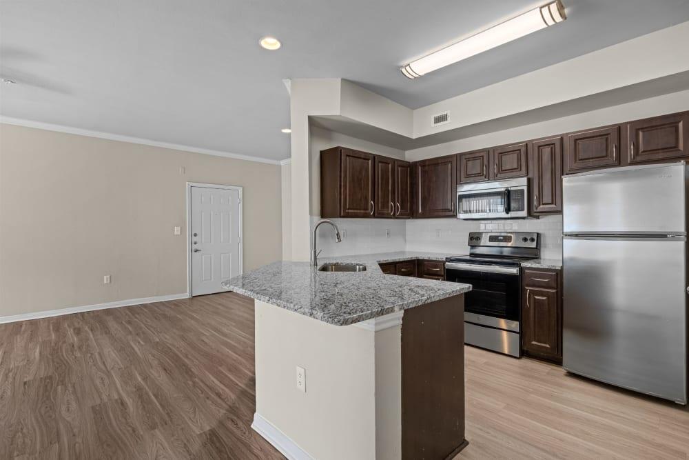 Large kitchen at Brooks on Preston in Plano, Texas