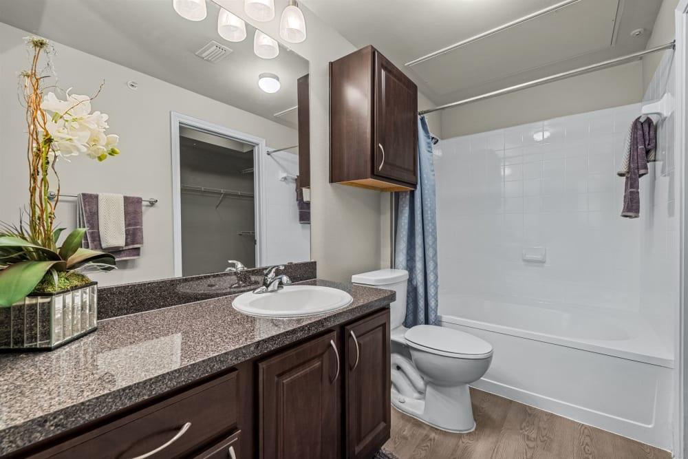 Clean bathroom at Brooks on Preston in Plano, Texas
