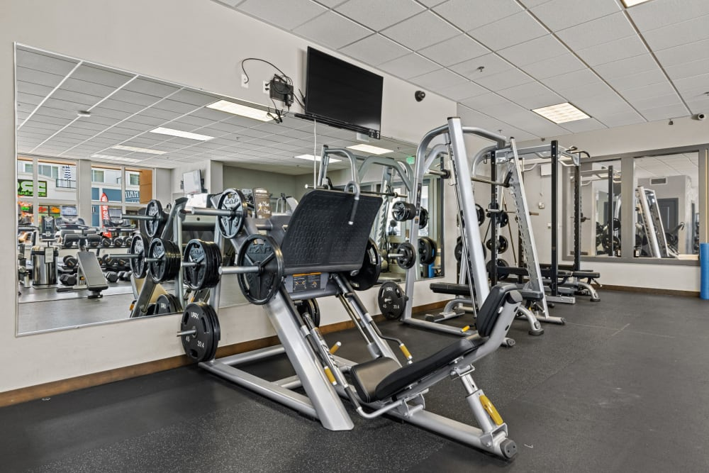 Fitness center at Copperline at Point Ruston in Tacoma, Washington