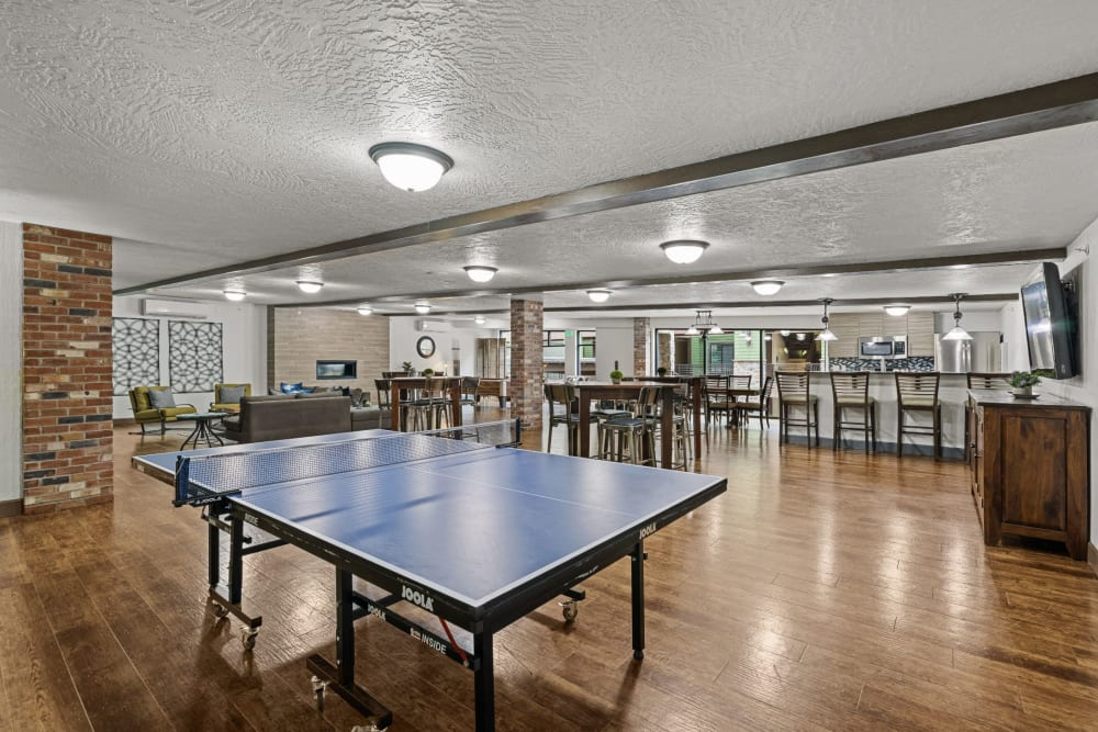 Ping pong table at Copperline at Point Ruston in Tacoma, Washington