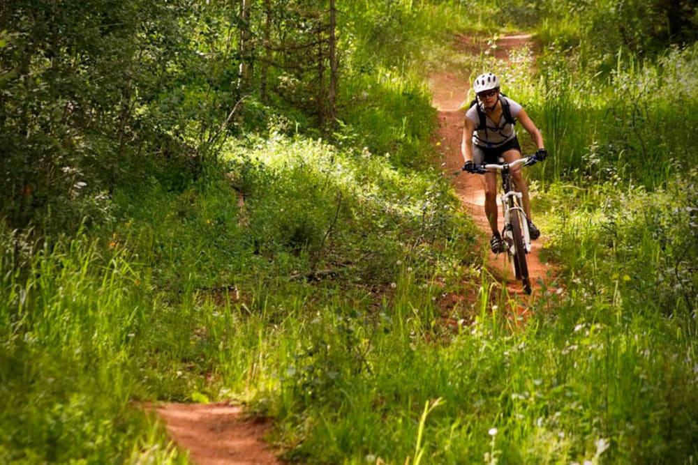 Biking trails near Yale Station Apartments in Denver, Colorado