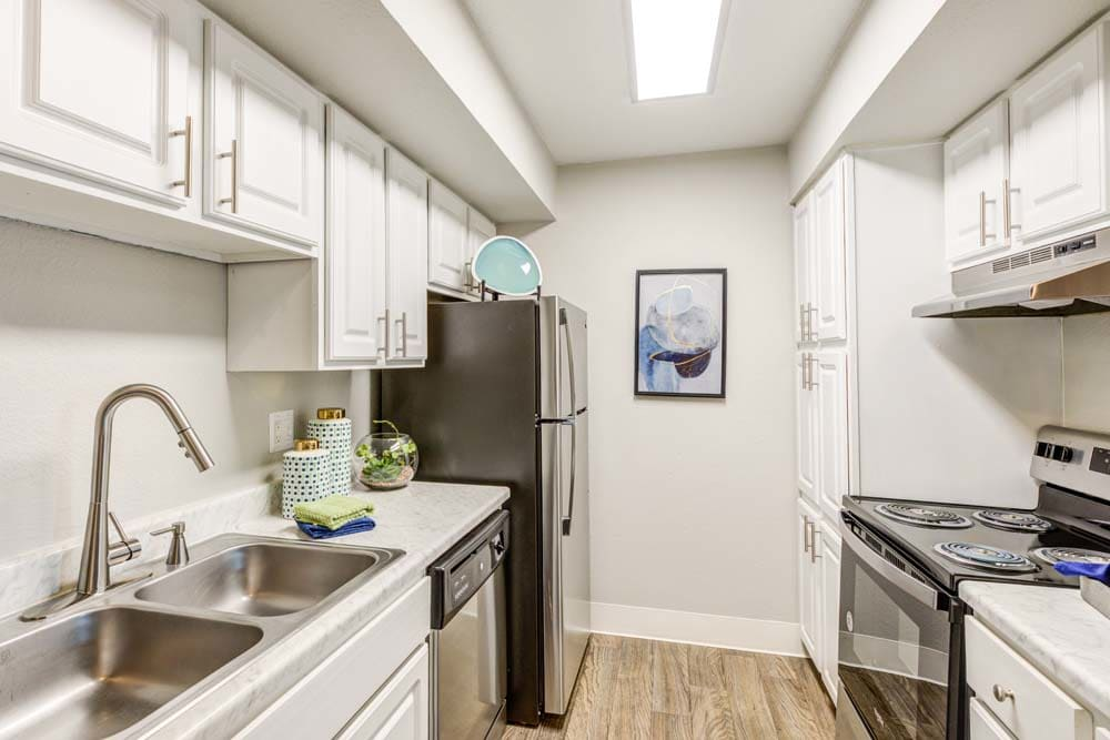 Model kitchen at Skyline in Thornton, Colorado