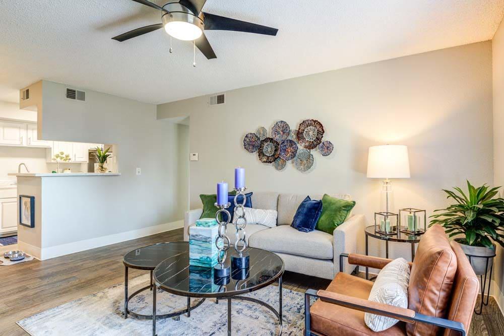 Living room at Skyline in Thornton, Colorado