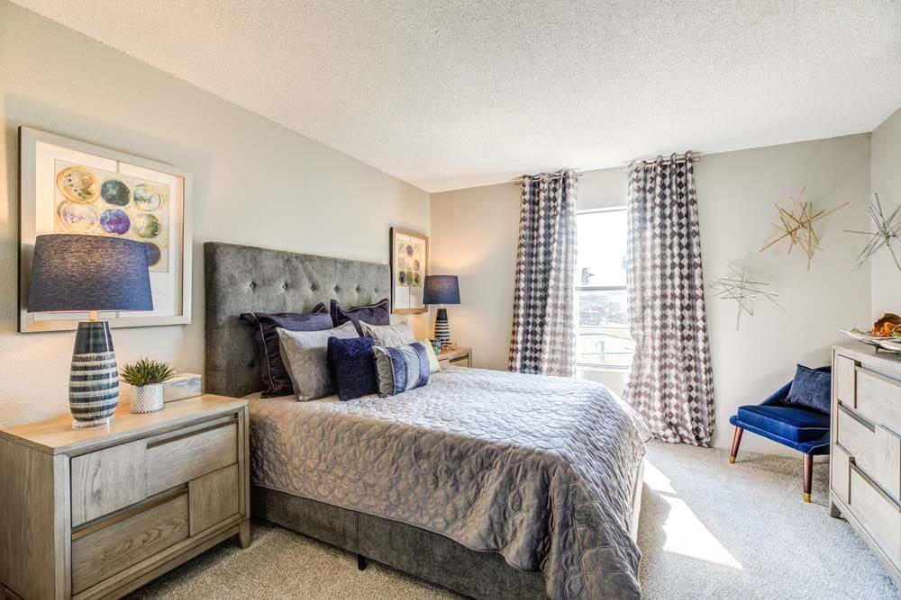 Cozy bedroom at Skyline in Thornton, Colorado