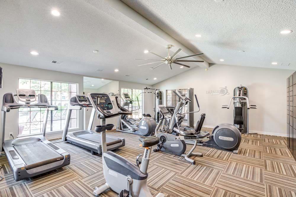 Fitness center at Skyline in Thornton, Colorado