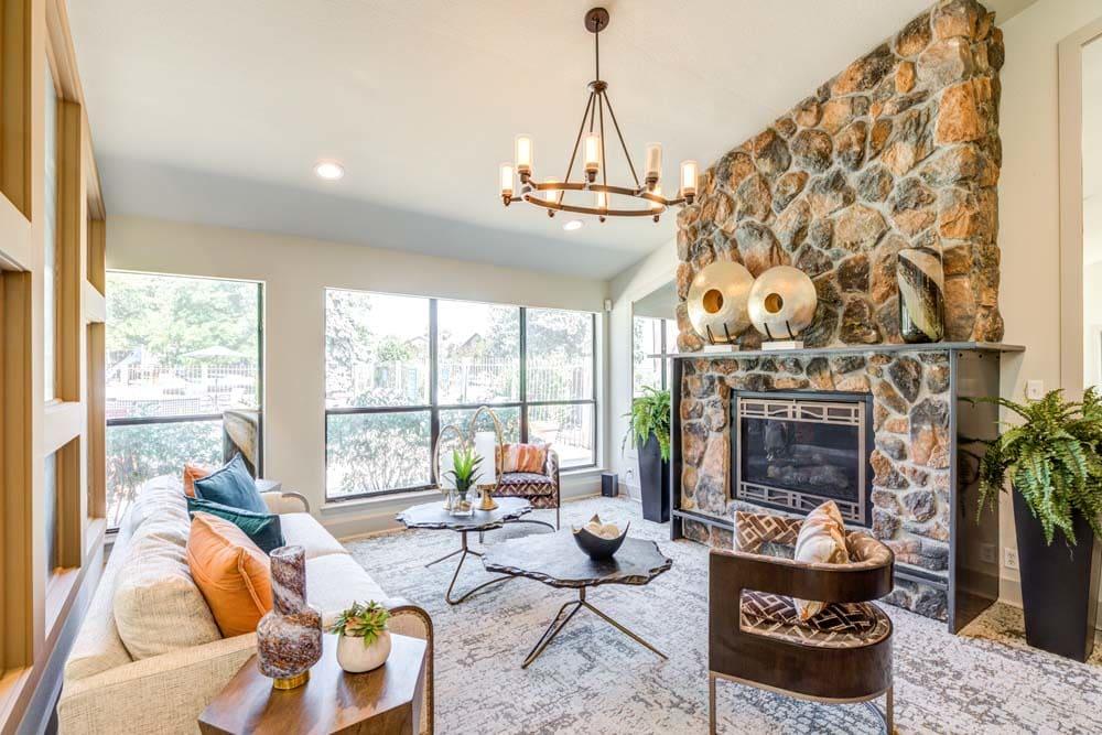 Beautiful lounge at Skyline in Thornton, Colorado