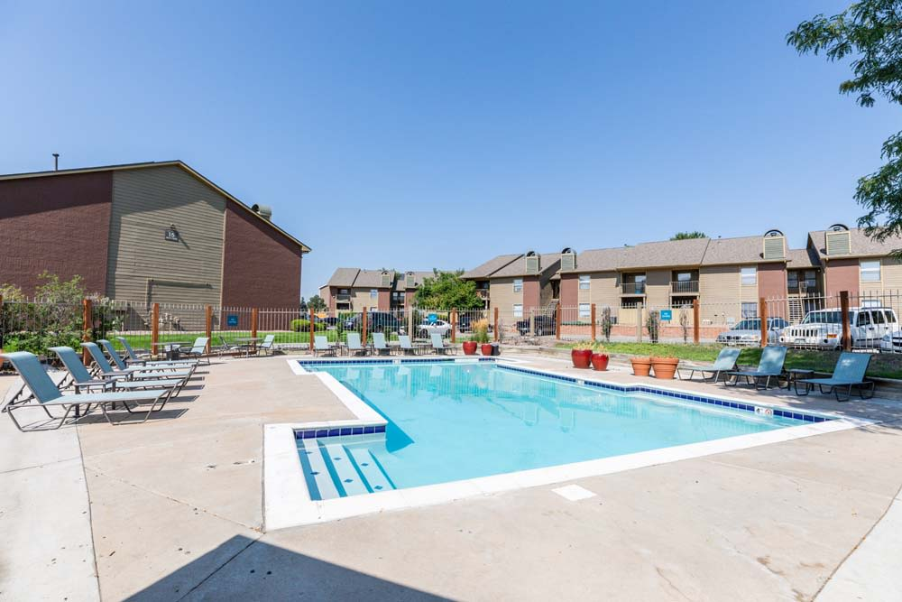 Swimming pool at Skyline in Thornton, Colorado