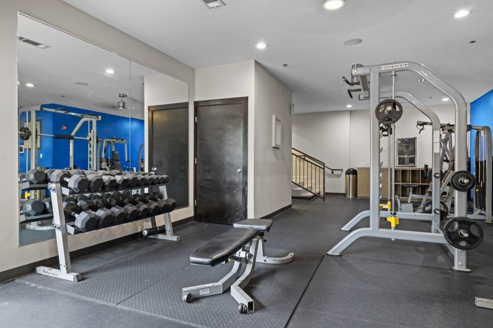 fitness center at Marq Eight in Atlanta, Georgia