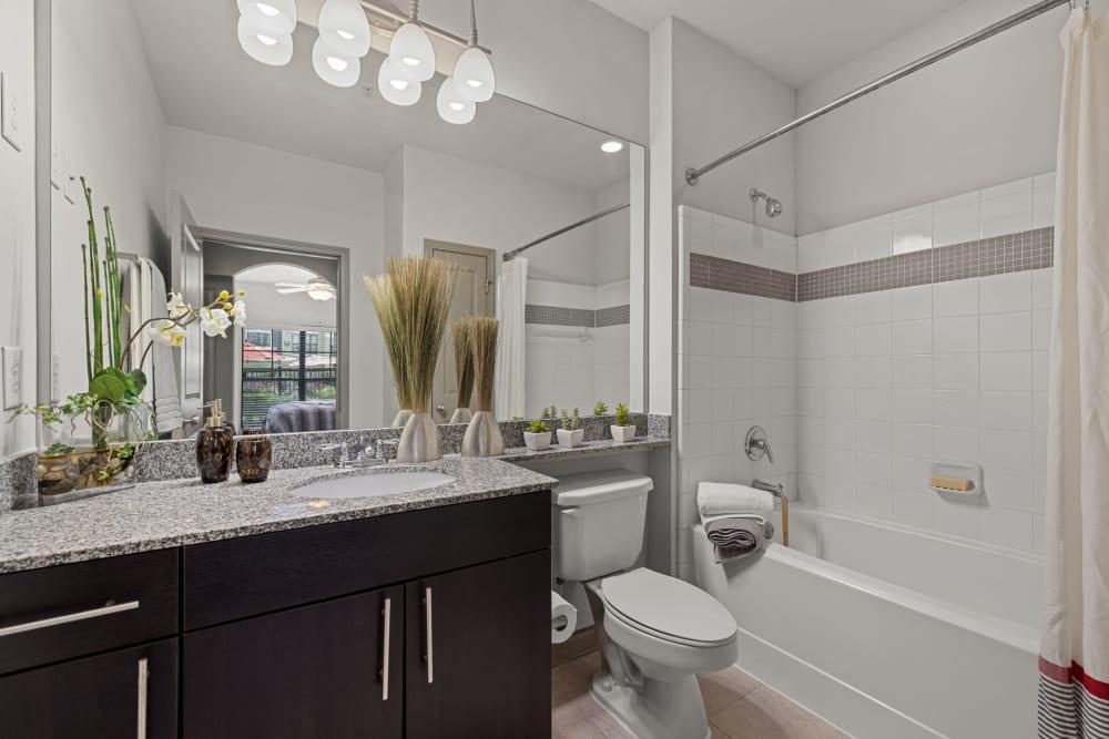 bathroom at Marquis Midtown District in Atlanta, Georgia