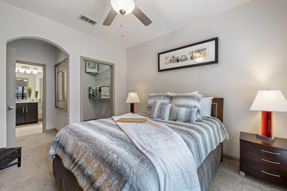 bright bedroom at Marquis Midtown District in Atlanta, Georgia