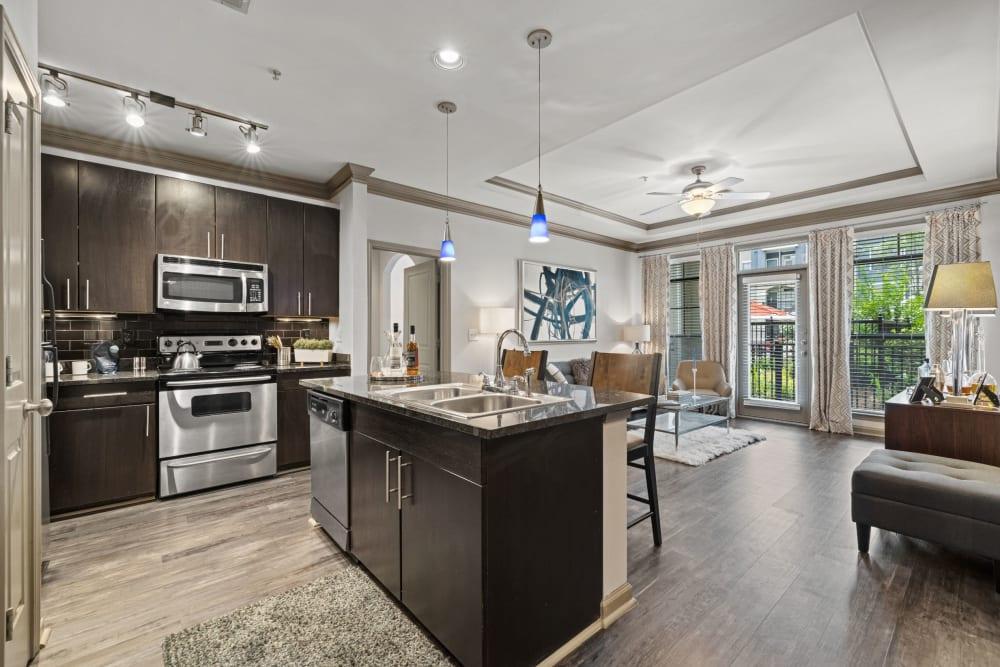 modern kitchen at Marquis Midtown District in Atlanta, Georgia
