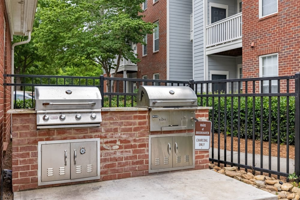 grills for resident use at The Marq at Brookhaven in Atlanta, Georgia