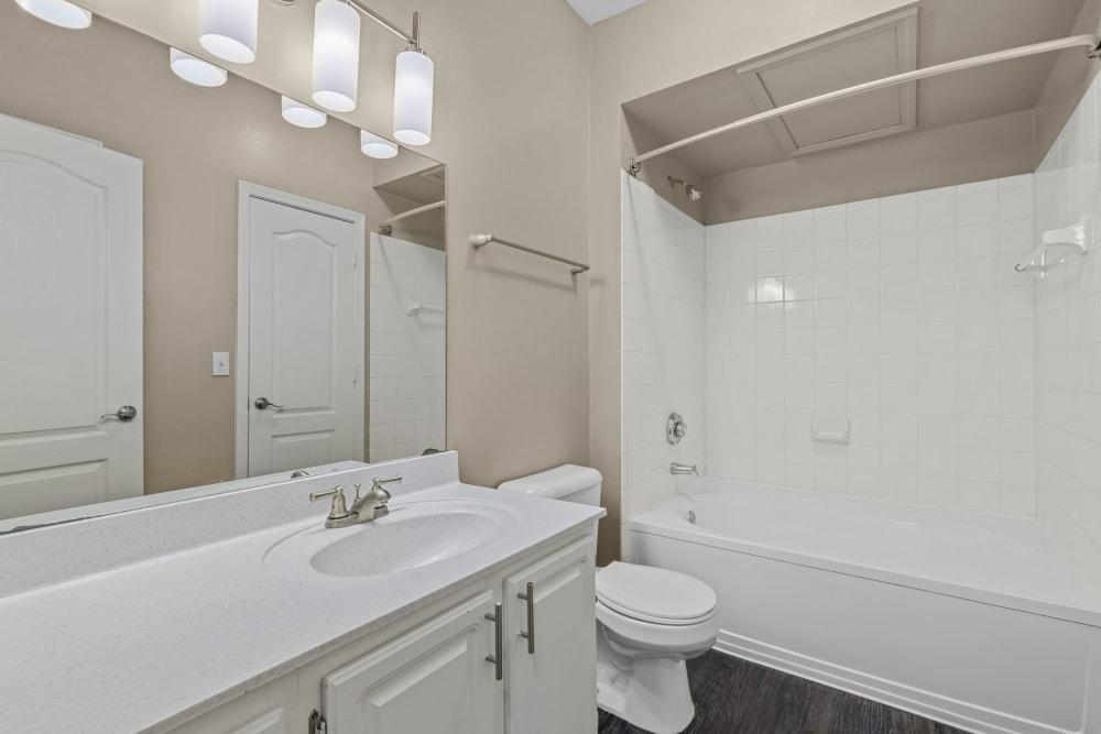 bathroom at The Marq at Brookhaven in Atlanta, Georgia