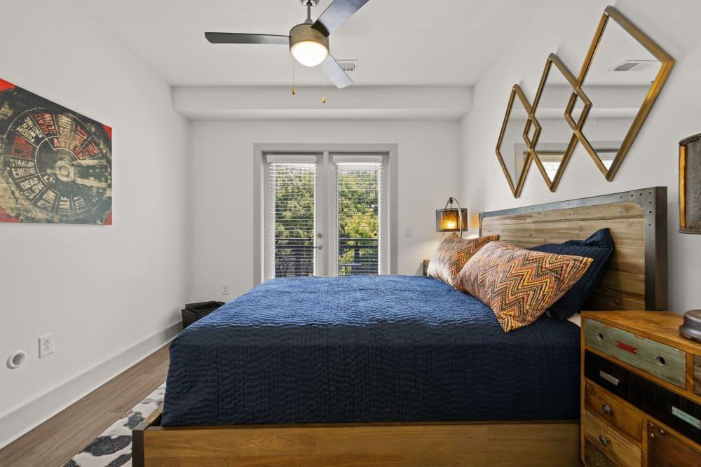 bedroom with french doors Skyline West in Atlanta, Georgia