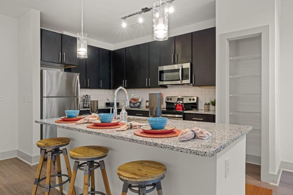 modern kitchen at Skyline West in Atlanta, Georgia