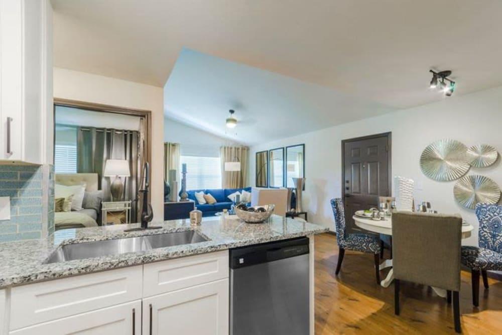 Upscale senior apartment at Sunstone Village in Denton, Texas