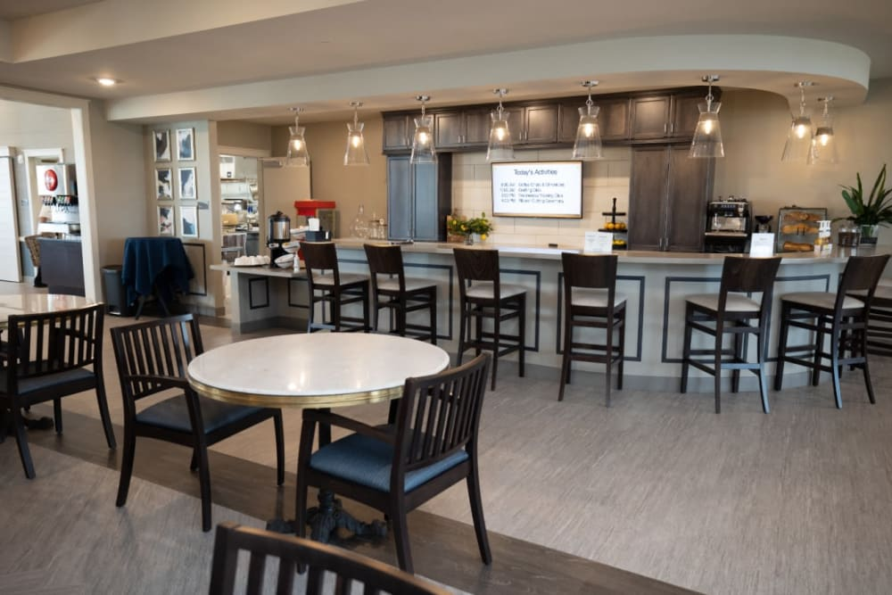 dining area at The Village at Orchard Grove in Romeo, Michigan