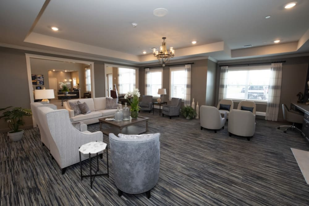 lounge at The Village at Orchard Grove in Romeo, Michigan