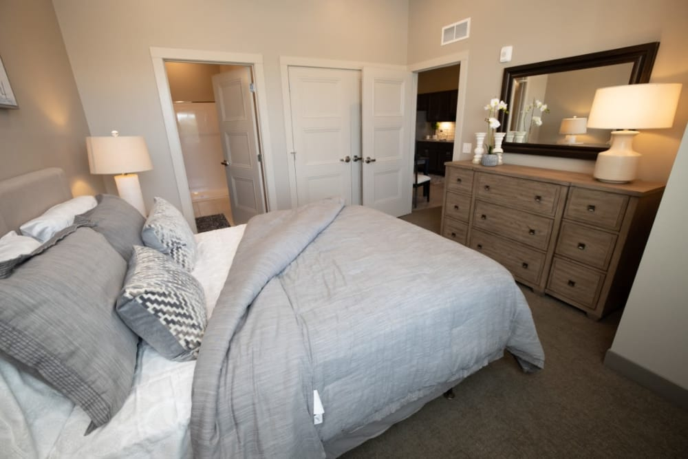 bedroom at The Village at Orchard Grove in Romeo, Michigan