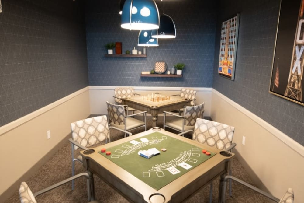 poker room at The Village at Orchard Grove in Romeo, Michigan