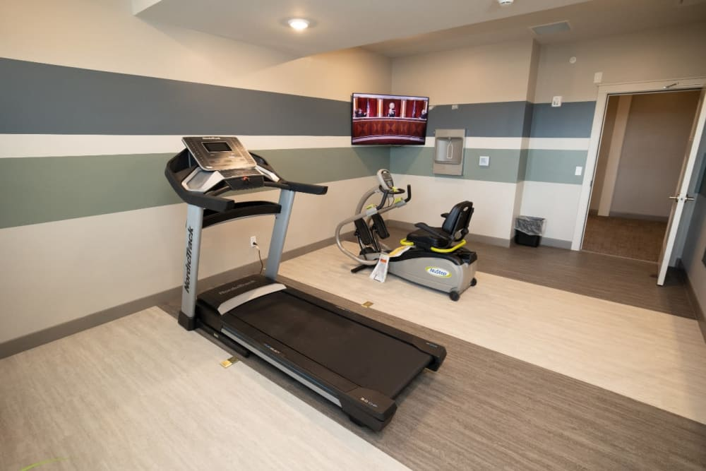 fitness center at The Village at Orchard Grove in Romeo, Michigan
