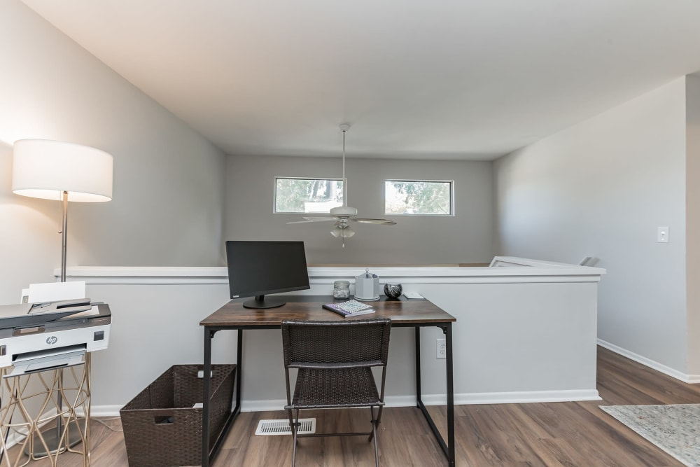 Office workstation in upstairs loft at Eagle Rock Apartments at Columbia in Columbia, Maryland