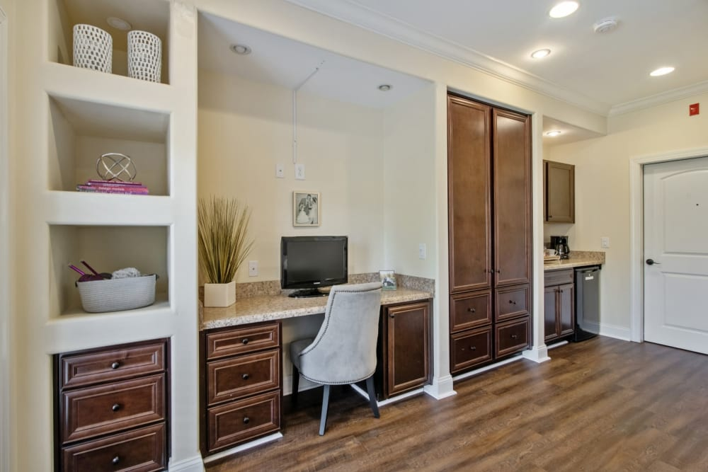 built in desk at Truewood by Merrill, Knoxville in Knoxville, Tennessee