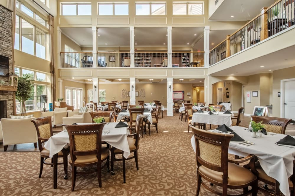 large community dining room at Truewood by Merrill, Knoxville in Knoxville, Tennessee